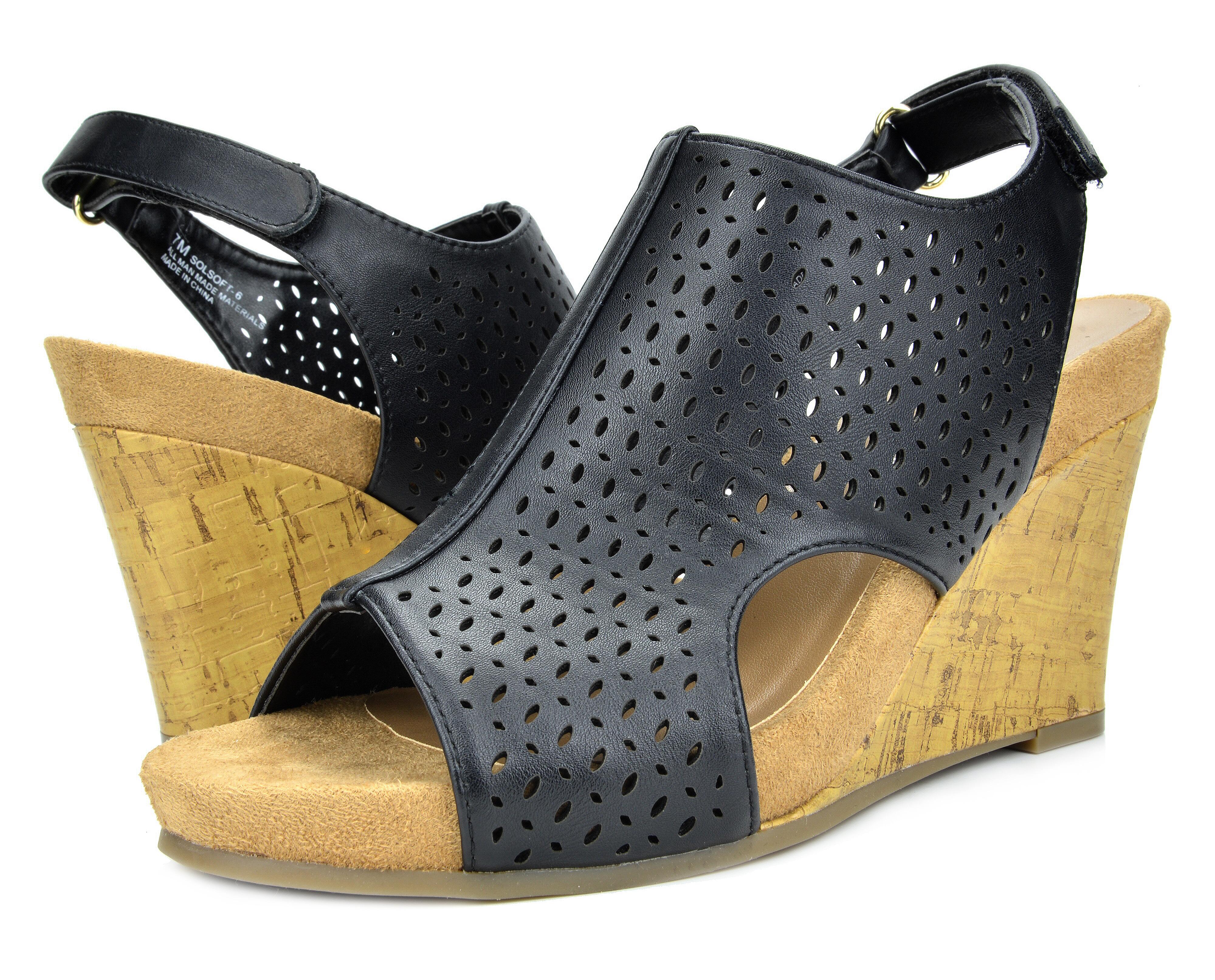 10103c0f61b7 TOETOS Women SOLSOFT-6 Open-toe Street Mid Heels Platform Wedges ...