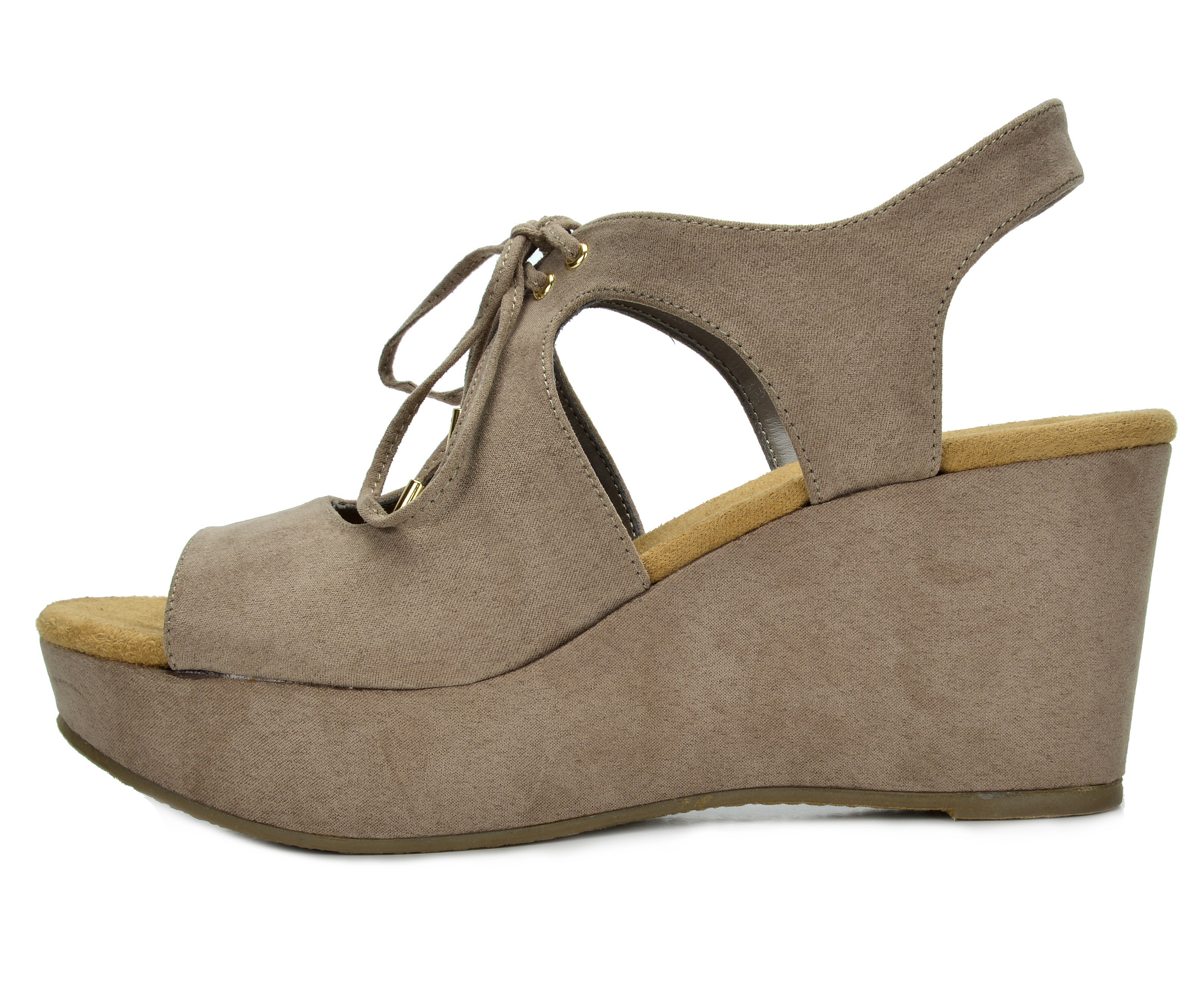 47b42583b25d TOETOS SANDRO-02 Womens Open Toe Mid Heel Lace Up Platform Wedges ...