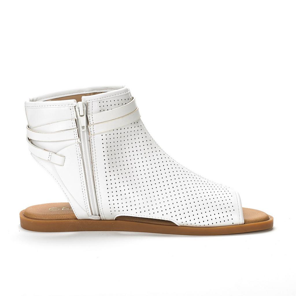 248d53f5507 DREAM PAIRS RUULE Women New Ankle Buckle Open Toe Mesh Side Zipper ...