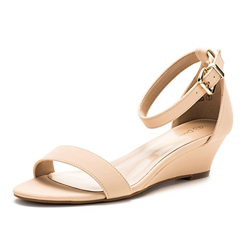 DREAM-PAIRS-Women-039-s-Ankle-Strap-Low-Wedge-Sandals-Open-Toe-Casual-Dress-Shoes thumbnail 29
