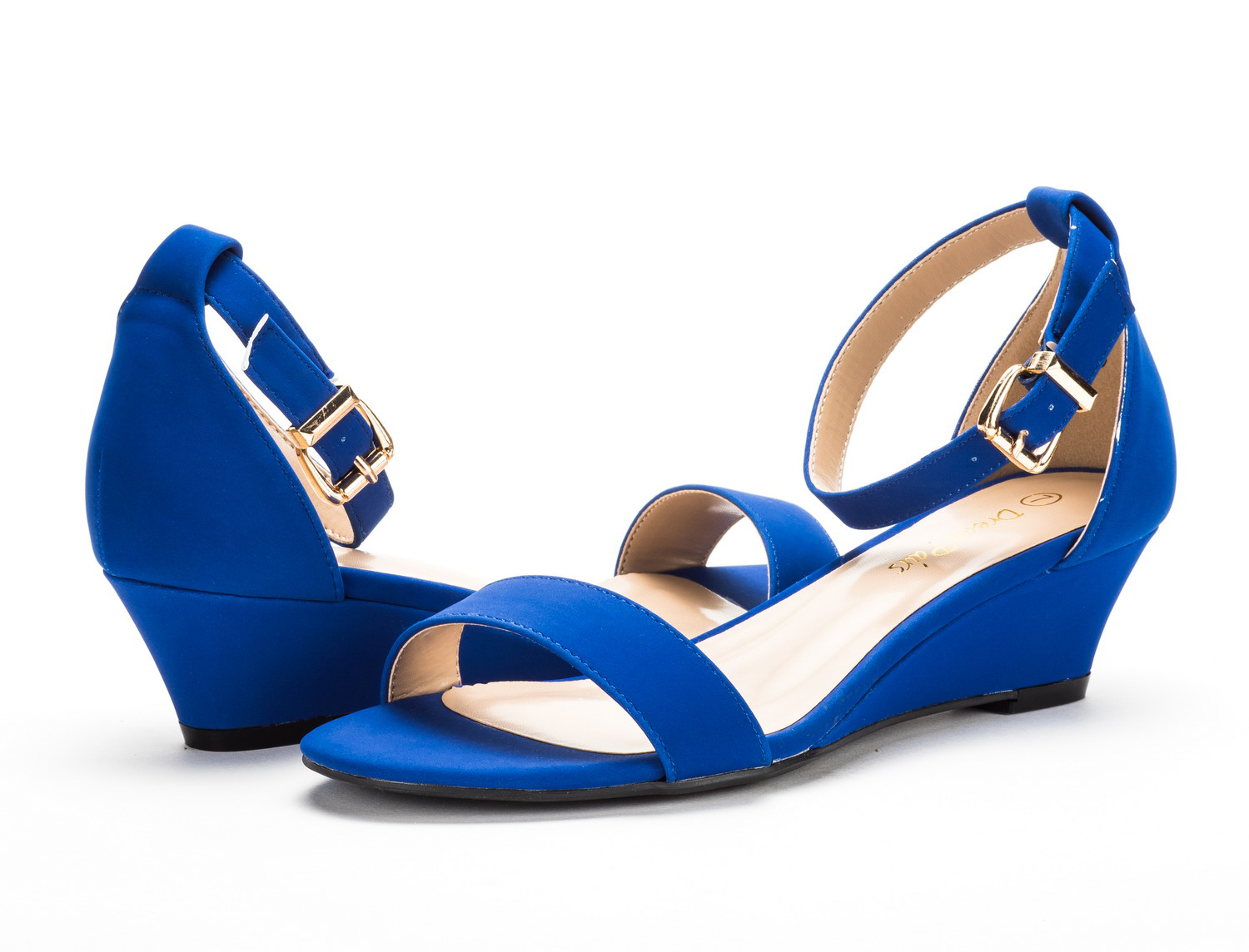 DREAM-PAIRS-Women-039-s-Ankle-Strap-Low-Wedge-Sandals-Open-Toe-Casual-Dress-Shoes thumbnail 14