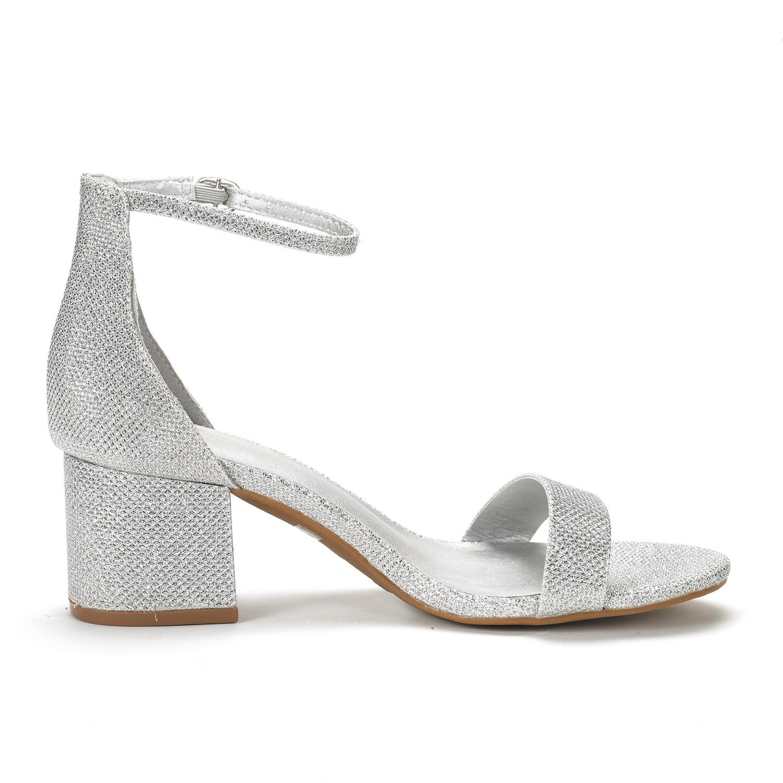 DREAM PAIRS CHUNK Womens Evening Dress Low Chunky Heel