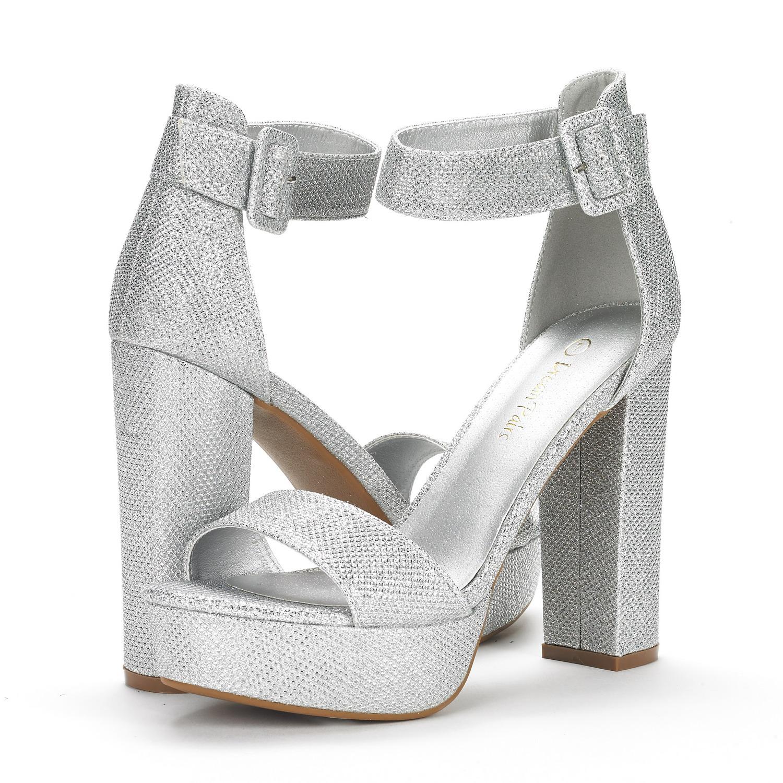 ebb83093bc0 DREAM PAIRS HI-LO Women High Chunky Platform Heel Open Toe Ankle ...