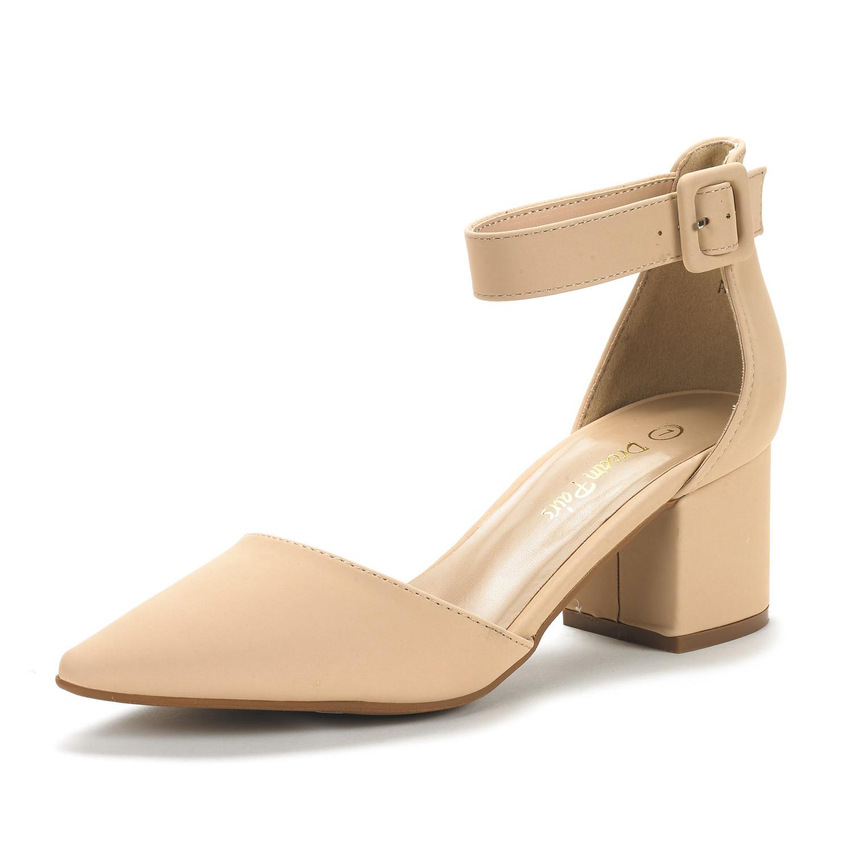 DREAM-PAIRS-Women-039-s-Low-Heel-Pumps