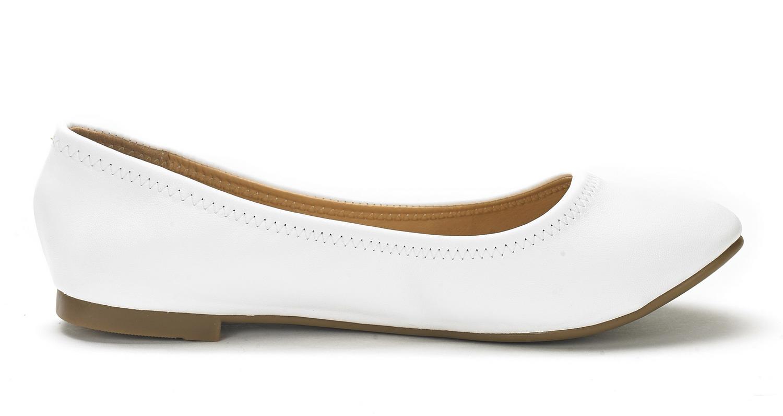 0d3568574e15 DREAM PAIRS Womens SOLE-HAPPY Casual Soft Slip On Ballerina Walking ...