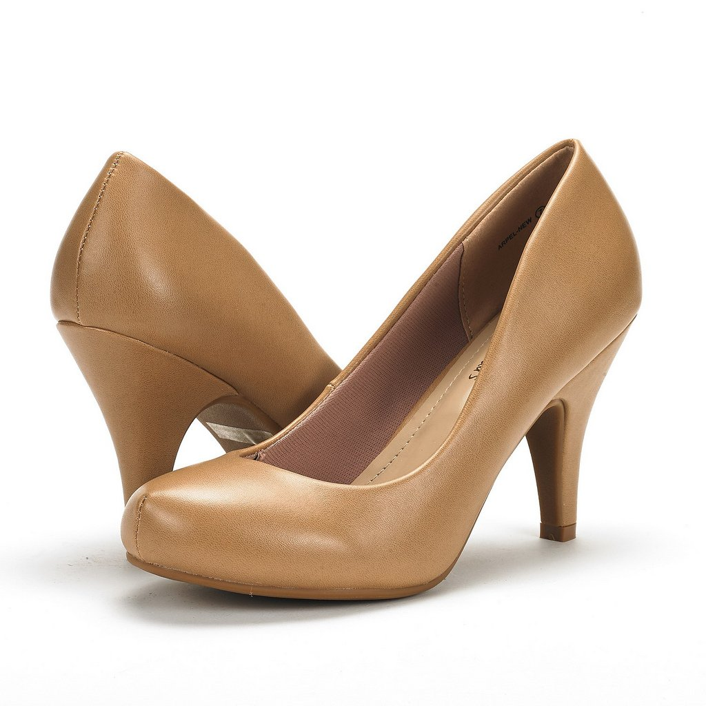 DREAM PAIRS Womens Peep Toe Pumps Stiletto Heels Office