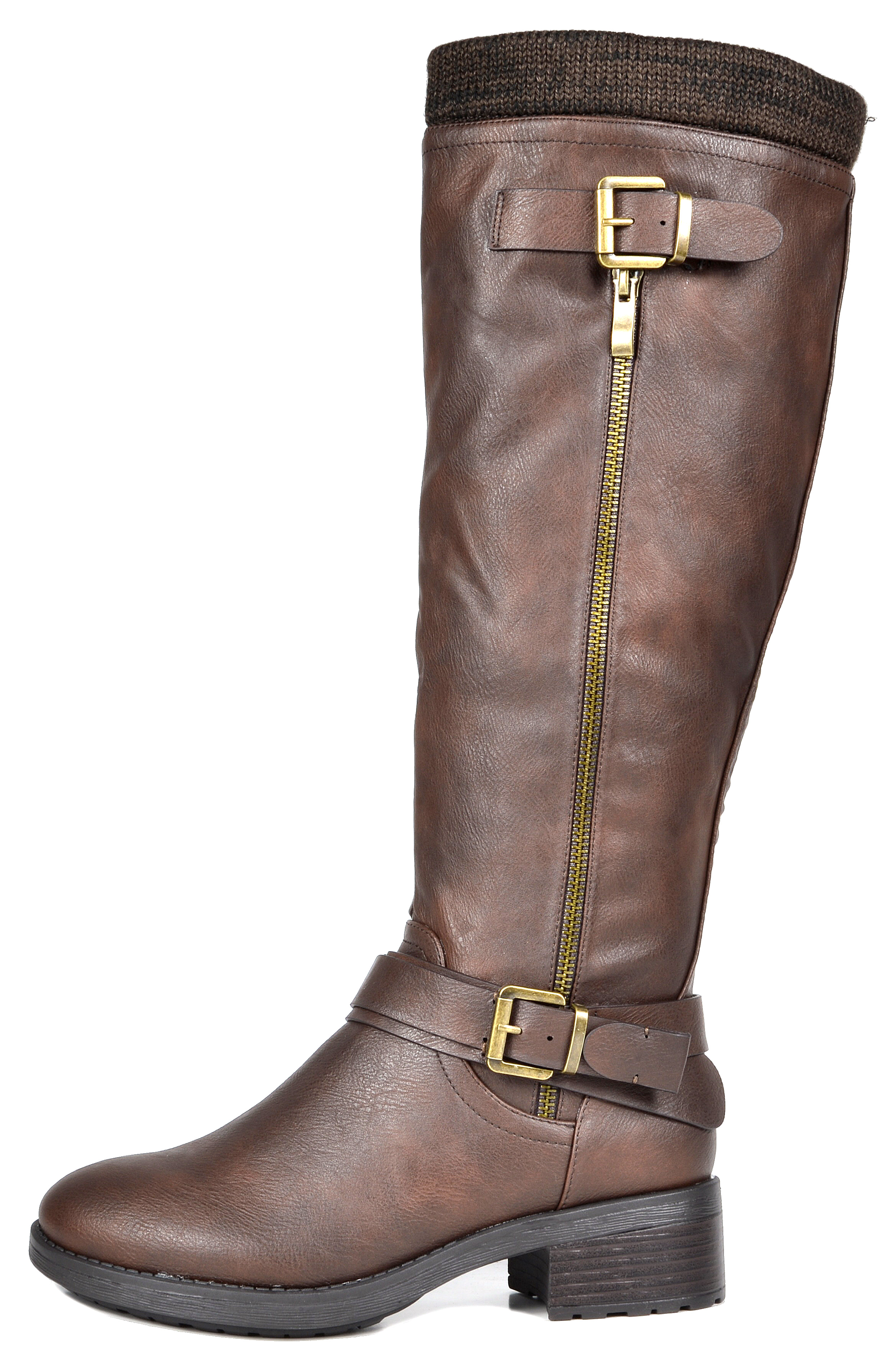 ebdec8f2a3c DREAM PAIRS Women s Knee High Riding Boots Zipper easy on(Wide-Calf ...