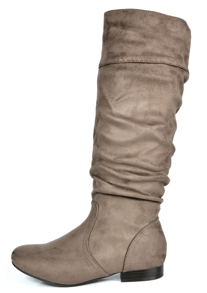 d98ffb6ea91 DREAM PAIRS Women s BLVD-W Flat Pull On Fall Weather Knee High Boots ...