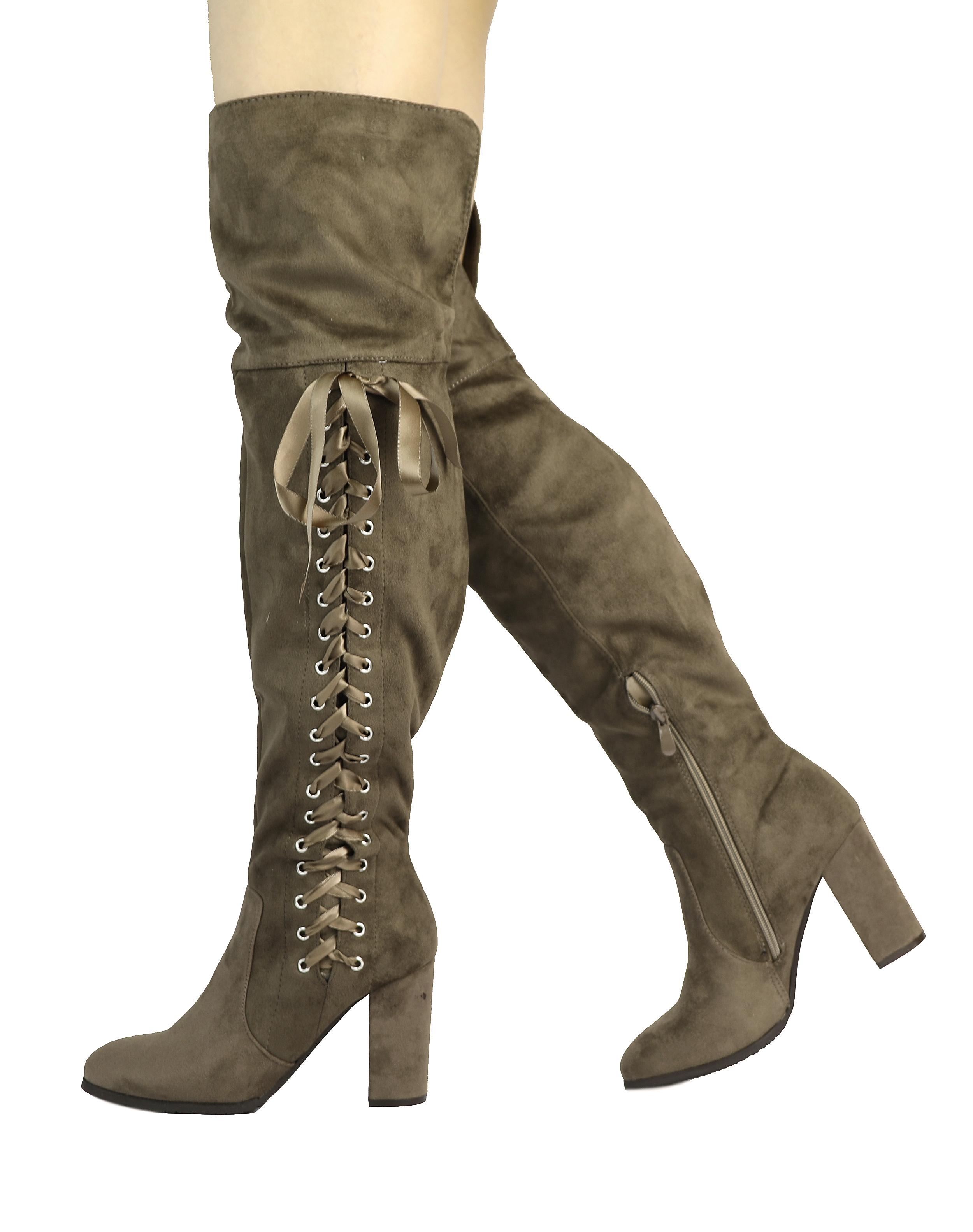 DREAM-PAIRS-Women-TRANZ-Side-Zipper-Over-The-Knee-Thigh-High-Block-Heel-Boots
