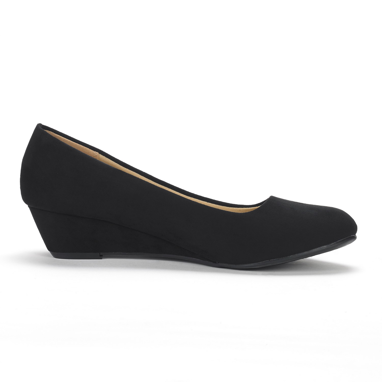 DREAM-PAIRS-Women-039-s-Mid-Wedge-Heel-Shoes-Slip-On-Comfort-Dress-Shoes-Suede-PU thumbnail 37