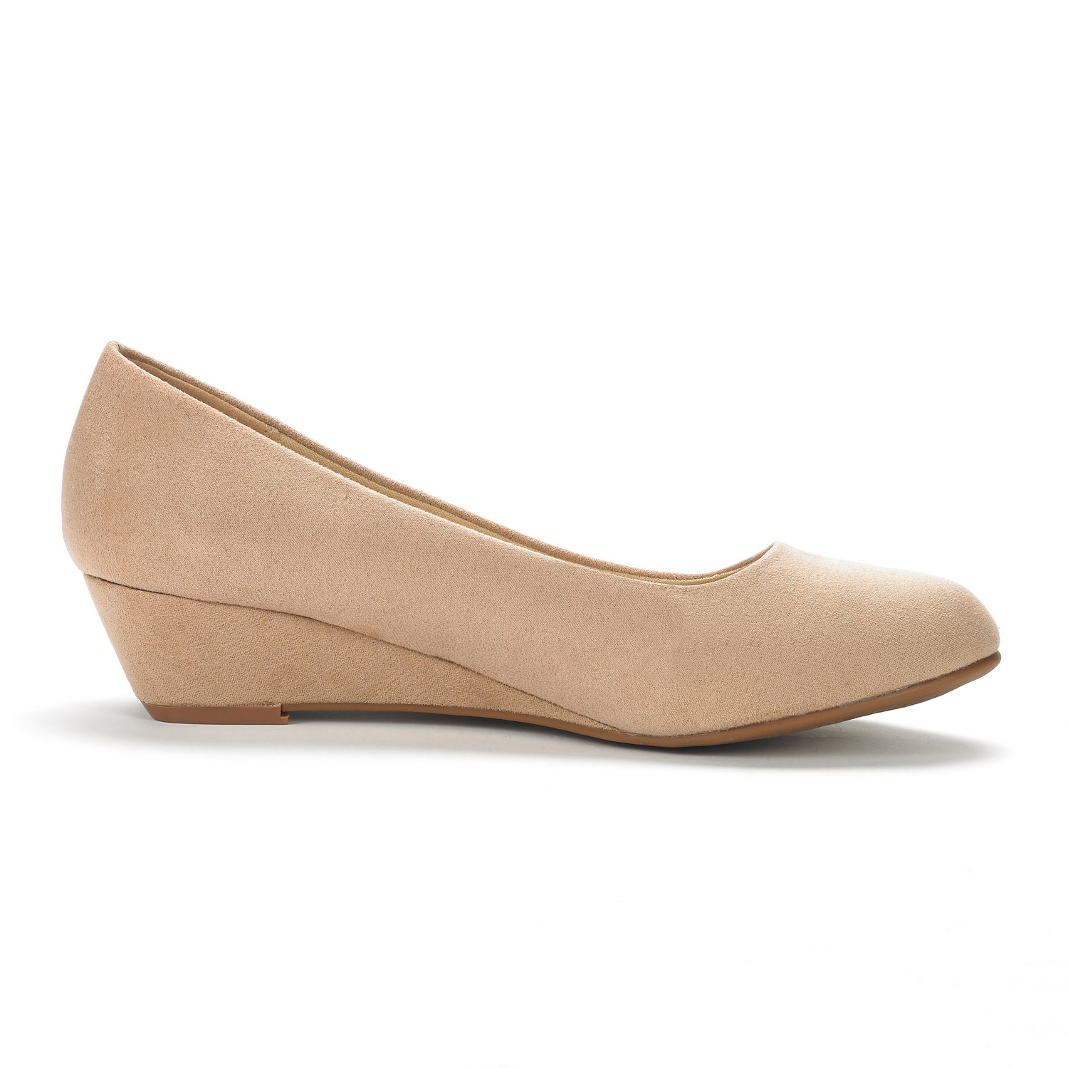 DREAM-PAIRS-Women-039-s-Mid-Wedge-Heel-Shoes-Slip-On-Comfort-Dress-Shoes-Suede-PU thumbnail 4