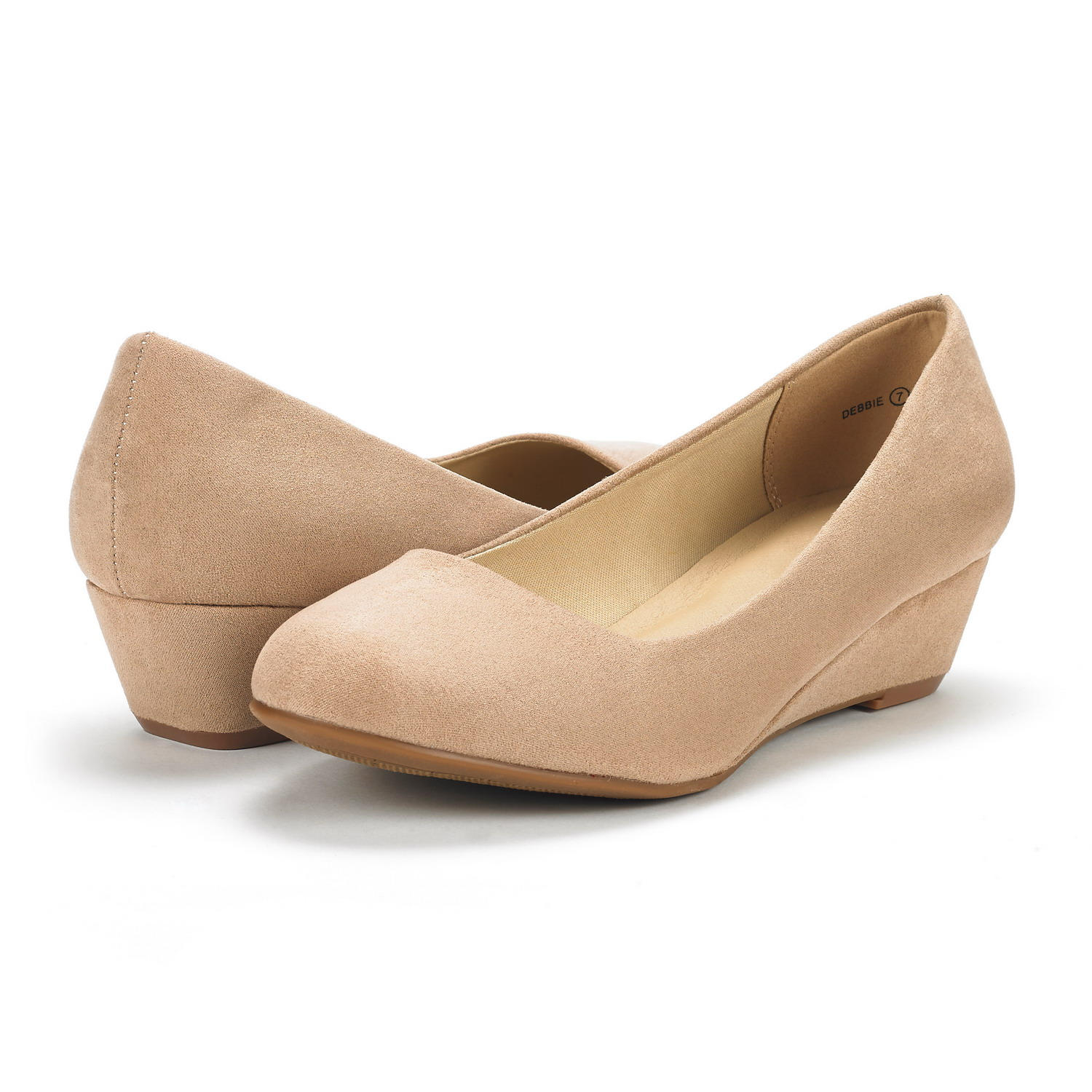 DREAM-PAIRS-Women-039-s-Mid-Wedge-Heel-Shoes-Slip-On-Comfort-Dress-Shoes-Suede-PU thumbnail 3
