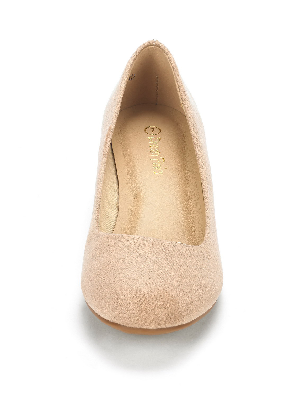 DREAM-PAIRS-Women-039-s-Mid-Wedge-Heel-Shoes-Slip-On-Comfort-Dress-Shoes-Suede-PU thumbnail 5