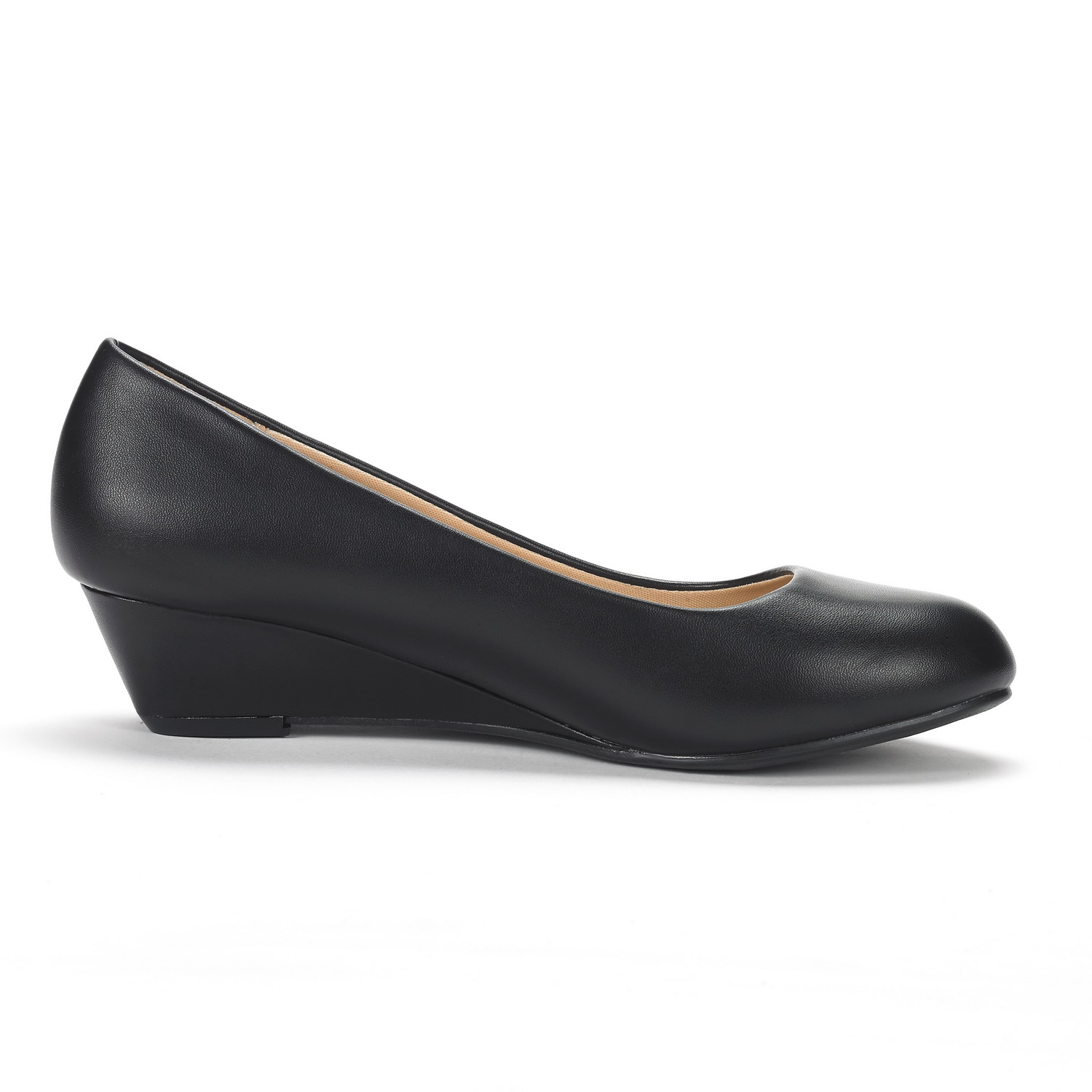 DREAM-PAIRS-Women-039-s-Mid-Wedge-Heel-Shoes-Slip-On-Comfort-Dress-Shoes-Suede-PU thumbnail 41