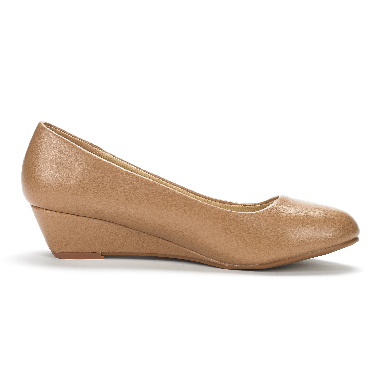 DREAM-PAIRS-Women-039-s-Mid-Wedge-Heel-Shoes-Slip-On-Comfort-Dress-Shoes-Suede-PU thumbnail 9