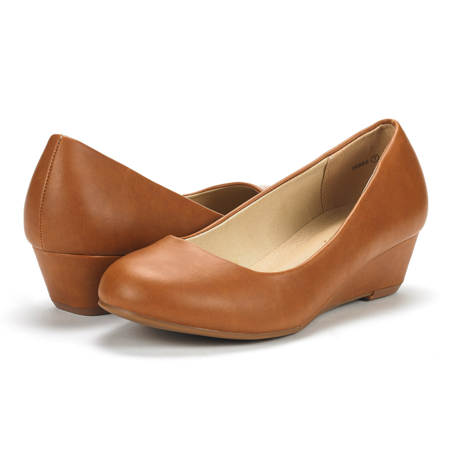 DREAM-PAIRS-Women-039-s-Mid-Wedge-Heel-Shoes-Slip-On-Comfort-Dress-Shoes-Suede-PU thumbnail 12