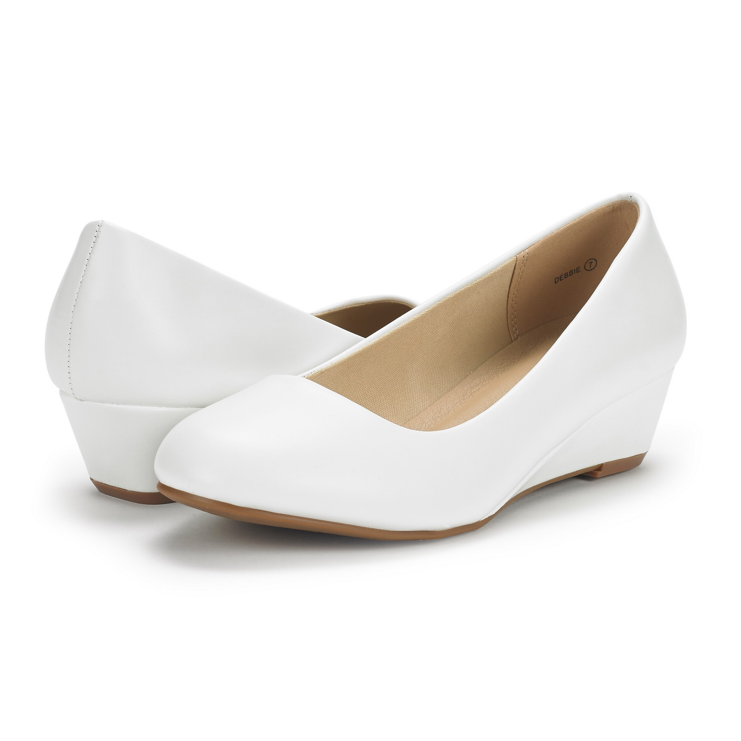 DREAM-PAIRS-Women-039-s-Mid-Wedge-Heel-Shoes-Slip-On-Comfort-Dress-Shoes-Suede-PU thumbnail 45