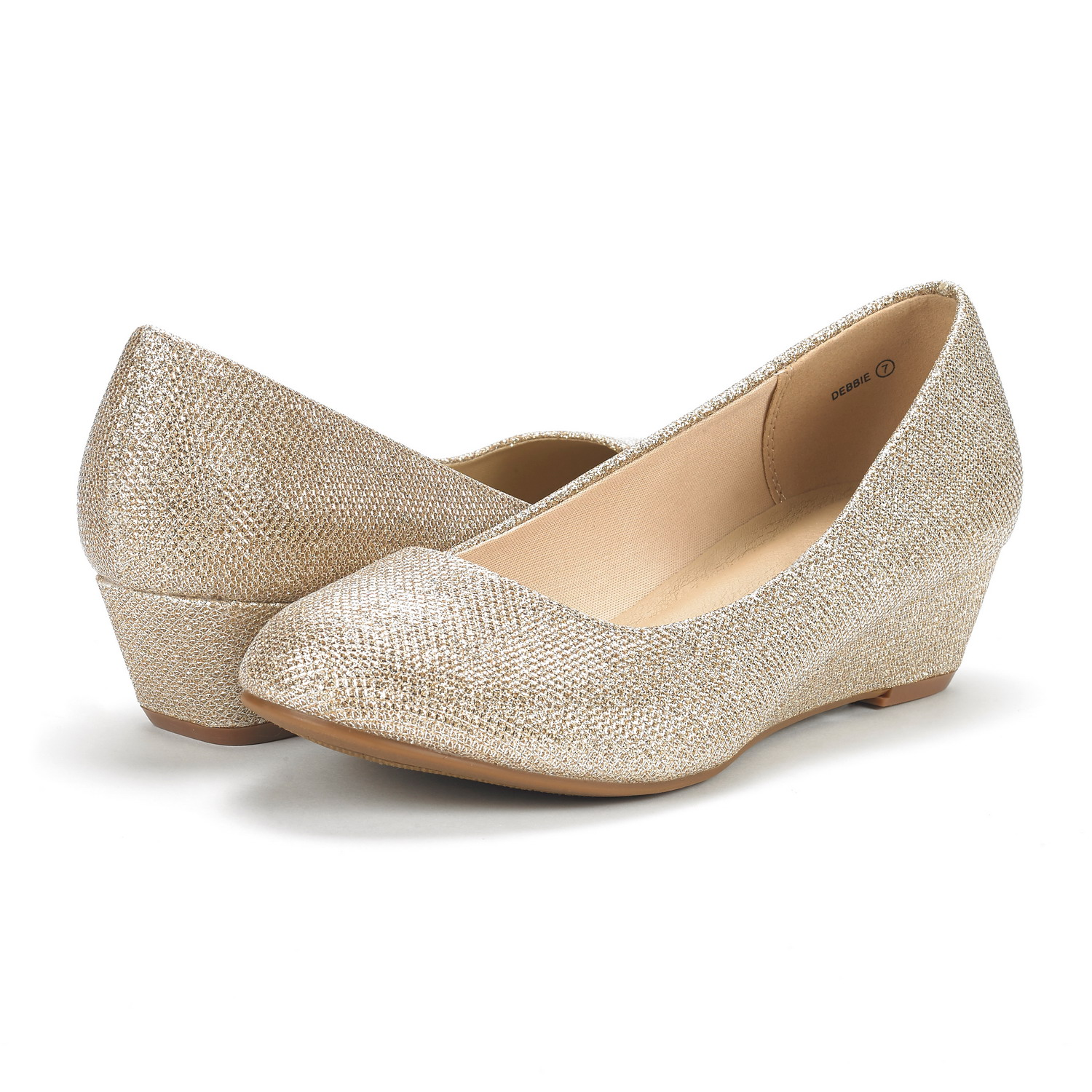 DREAM-PAIRS-Women-039-s-Mid-Wedge-Heel-Shoes-Slip-On-Comfort-Dress-Shoes-Suede-PU thumbnail 20