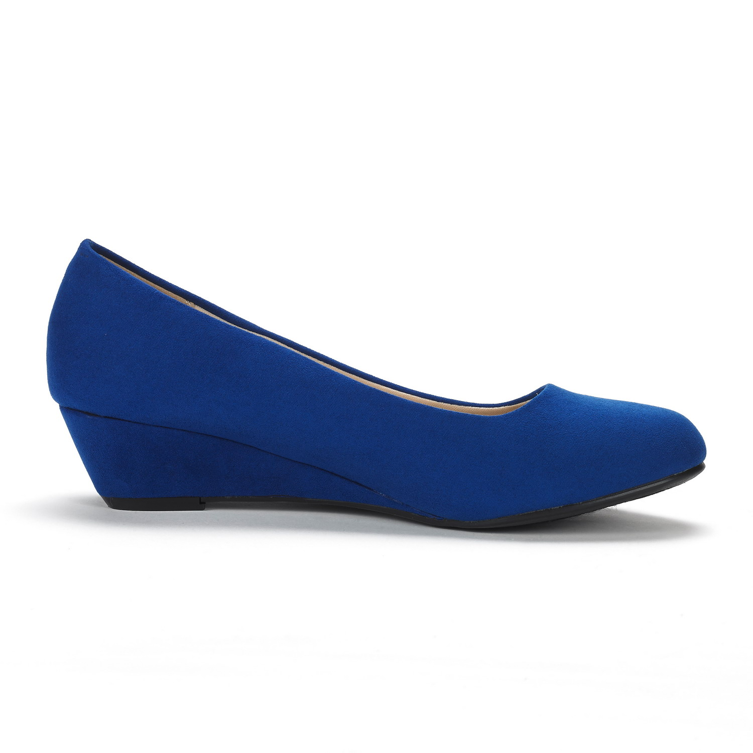 DREAM-PAIRS-Women-039-s-Mid-Wedge-Heel-Shoes-Slip-On-Comfort-Dress-Shoes-Suede-PU thumbnail 29