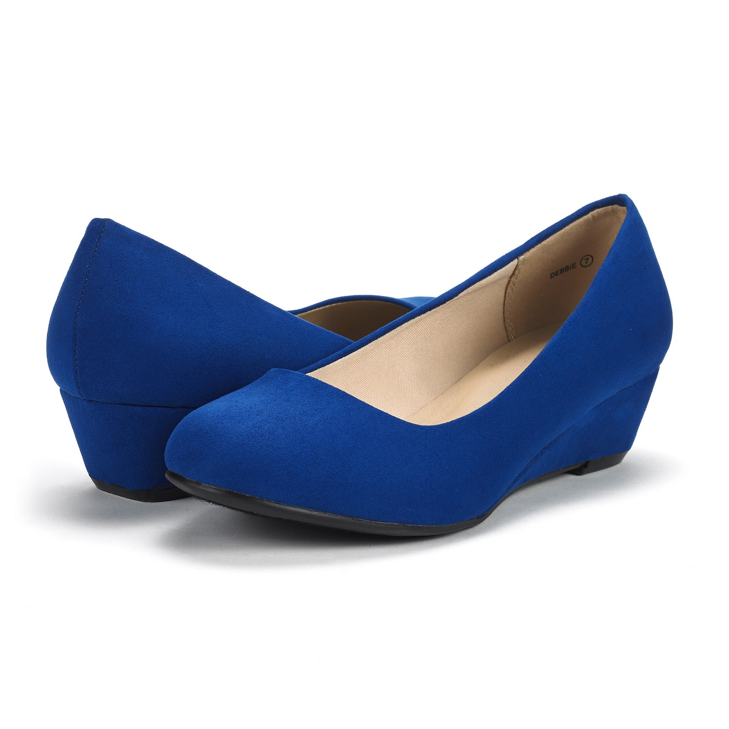 DREAM-PAIRS-Women-039-s-Mid-Wedge-Heel-Shoes-Slip-On-Comfort-Dress-Shoes-Suede-PU thumbnail 28