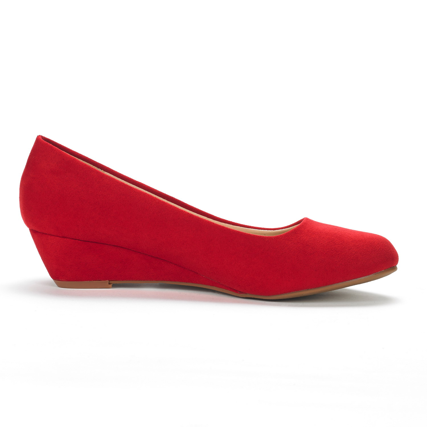 DREAM-PAIRS-Women-039-s-Mid-Wedge-Heel-Shoes-Slip-On-Comfort-Dress-Shoes-Suede-PU thumbnail 33