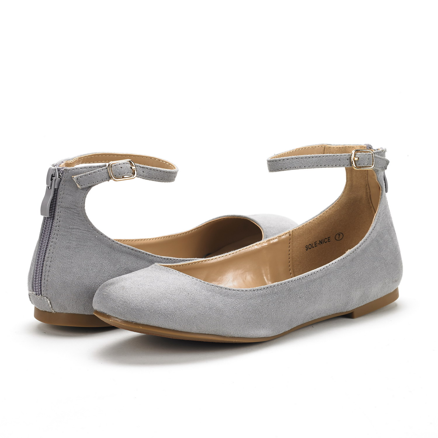 f15bef49af2 DREAM PAIRS Women Sole-Nice Casual Ankle Strap Street Walking Ballet ...