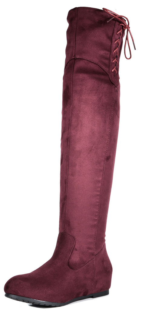 DREAM PAIRS Women's Over The Knee Thigh High Stretch Suede