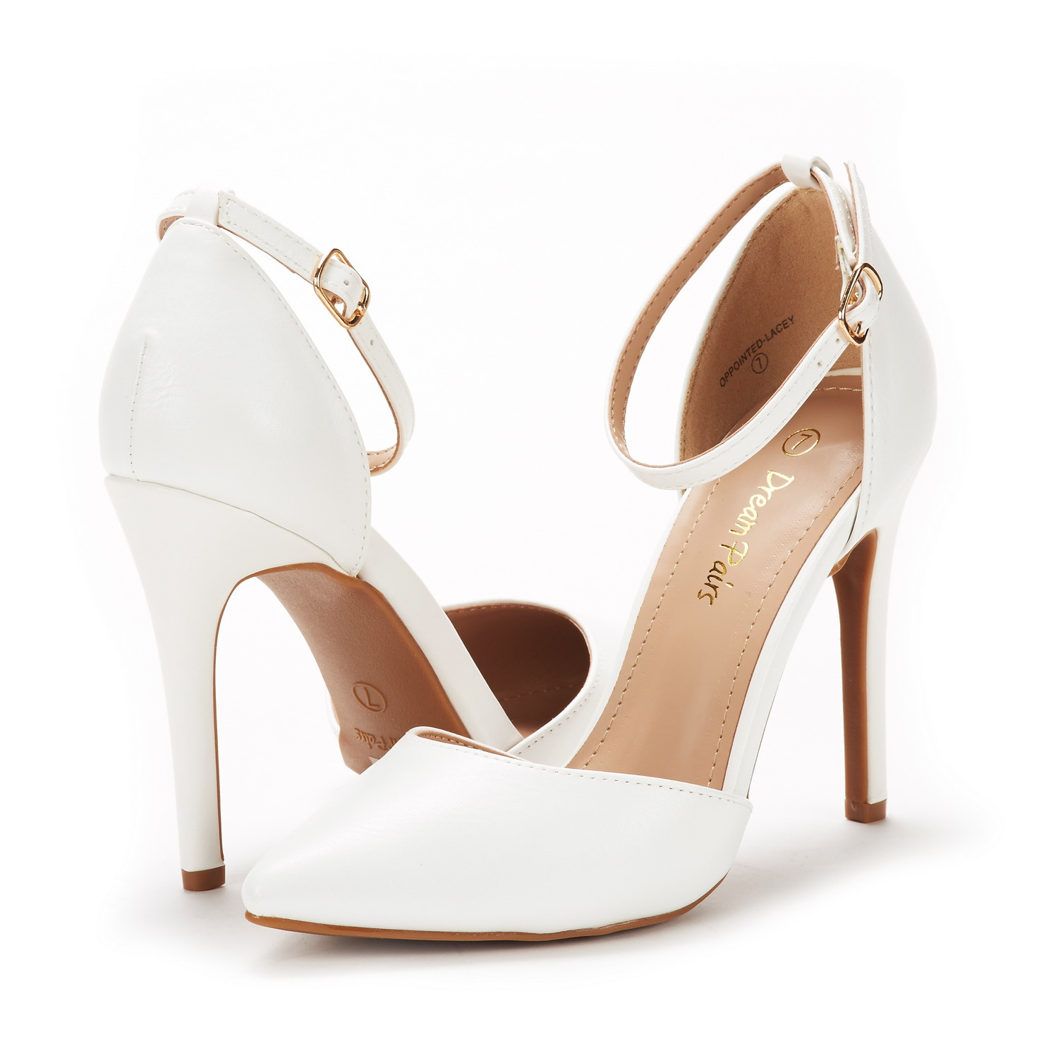 8d5d5902956 DREAM PAIRS Womens Oppointed-Lacey High Heeled Pointed Toe Wedding ...