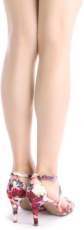 thumbnail 48 - Women's Open Toe Cross Strappy Sandals Heels Ankle Strap Wedding  Dress Shoes US