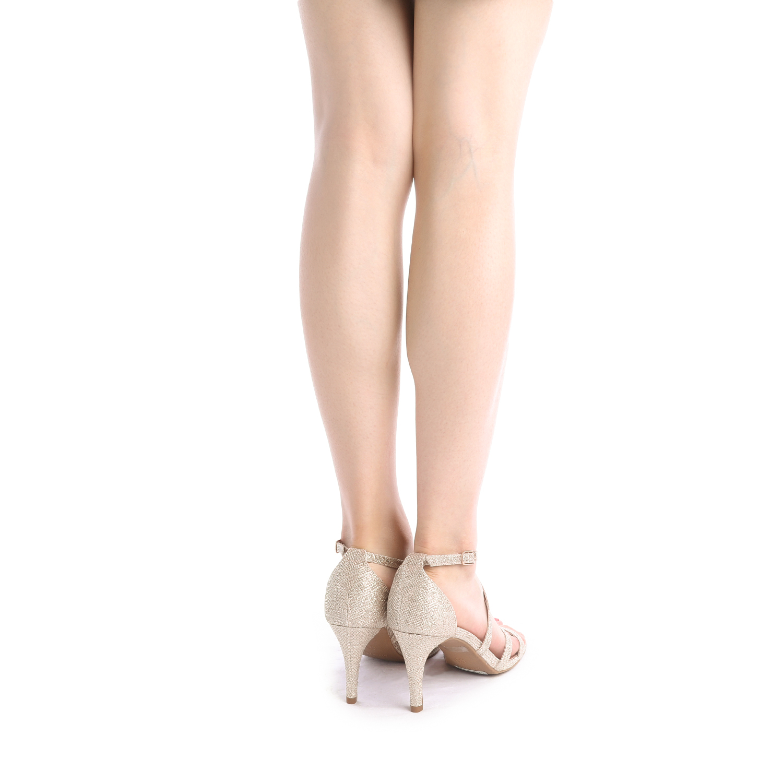 thumbnail 42 - Women's Open Toe Cross Strappy Sandals Heels Ankle Strap Wedding  Dress Shoes US