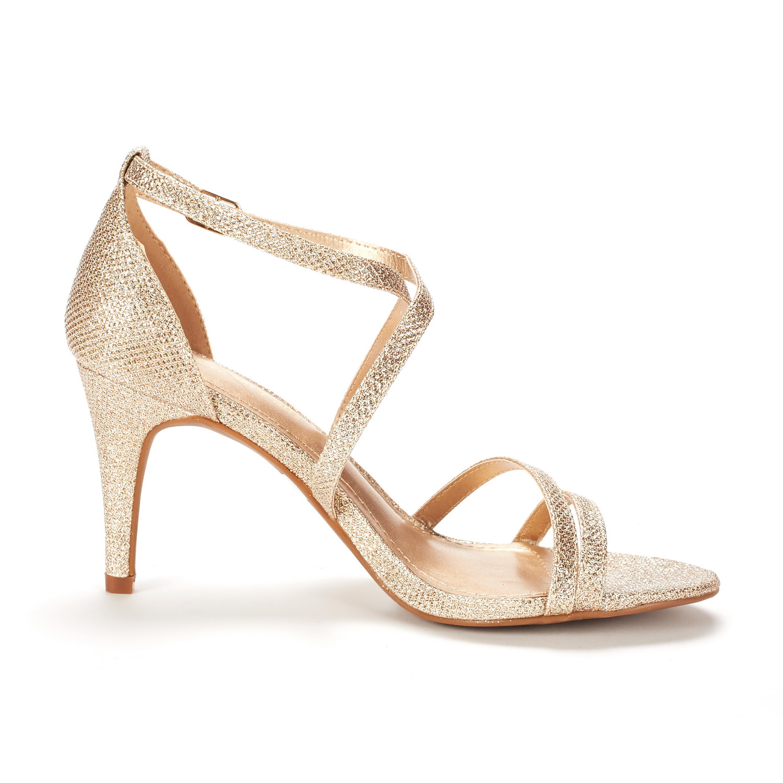 thumbnail 40 - Women's Open Toe Cross Strappy Sandals Heels Ankle Strap Wedding  Dress Shoes US