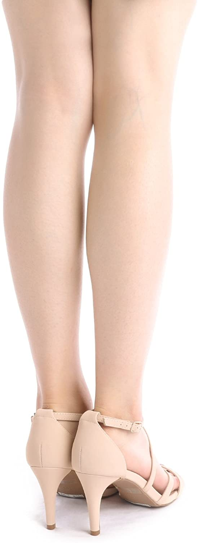 thumbnail 36 - Women's Open Toe Cross Strappy Sandals Heels Ankle Strap Wedding  Dress Shoes US
