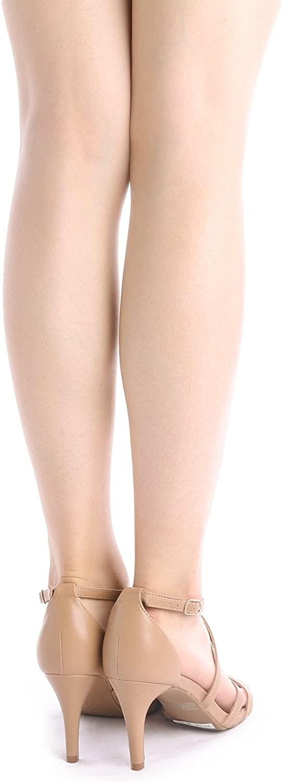 thumbnail 30 - Women's Open Toe Cross Strappy Sandals Heels Ankle Strap Wedding  Dress Shoes US