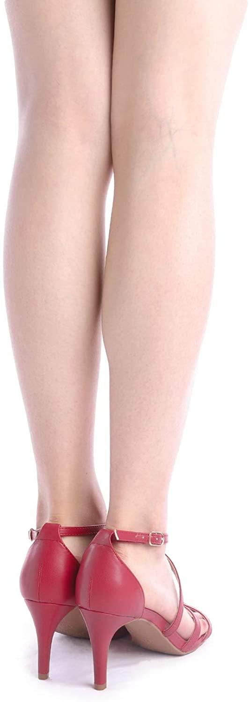 thumbnail 24 - Women's Open Toe Cross Strappy Sandals Heels Ankle Strap Wedding  Dress Shoes US