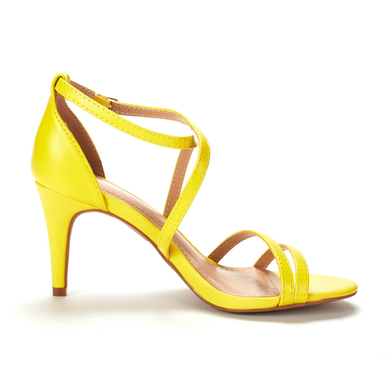 thumbnail 4 - Women's Open Toe Cross Strappy Sandals Heels Ankle Strap Wedding  Dress Shoes US