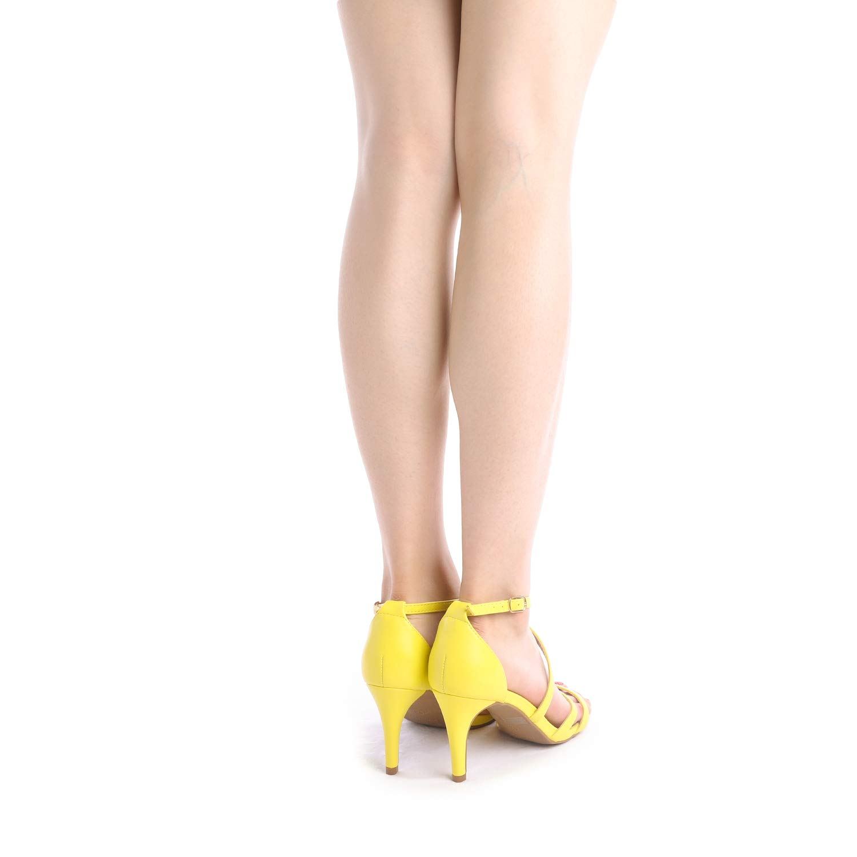 thumbnail 6 - Women's Open Toe Cross Strappy Sandals Heels Ankle Strap Wedding  Dress Shoes US