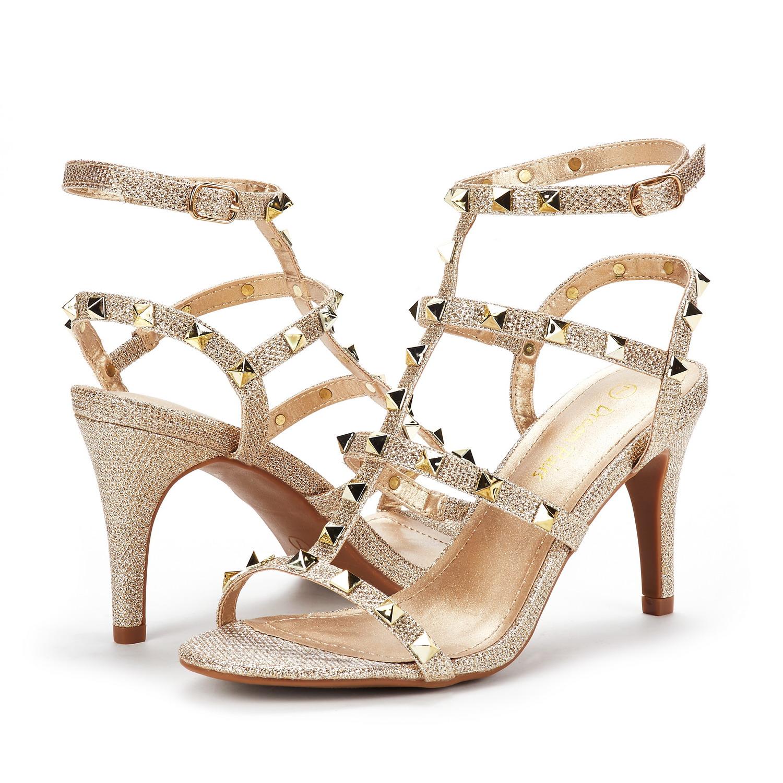 87d325e745ef DREAM PAIRS Women HEROINEE Ankle Strap Stilettos Open Toe Pump ...