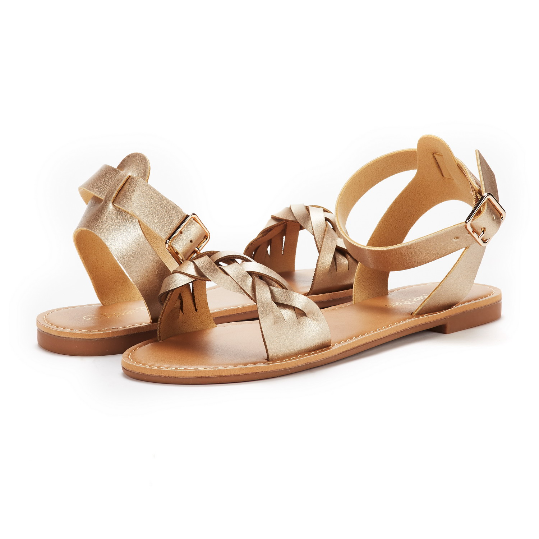 ebc27067f DREAM PAIRS Women HOBOO B Ballet D Orsay Pointed Plain Ankle Strap ...