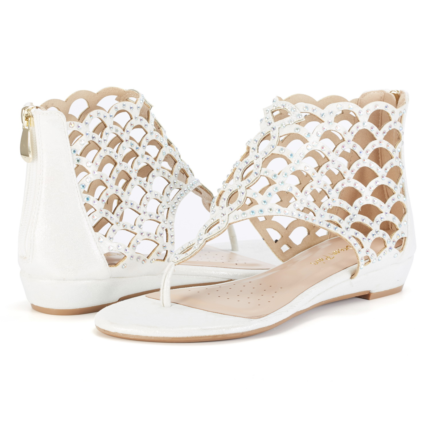 87ef436f489c9f DREAM PAIRS Women Jewel New Low Heel Rhinestones Design Ankle Strap ...