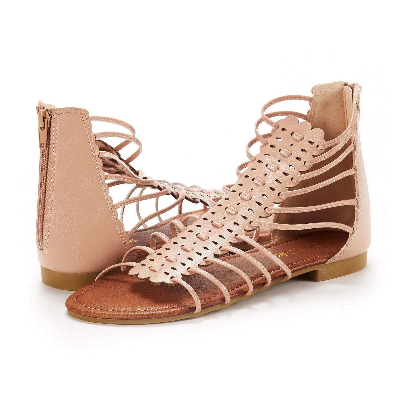 fa244fd0a296 DREAM PAIRS Women Roman Summer Fashion Gladiator Design Ankle Strap ...