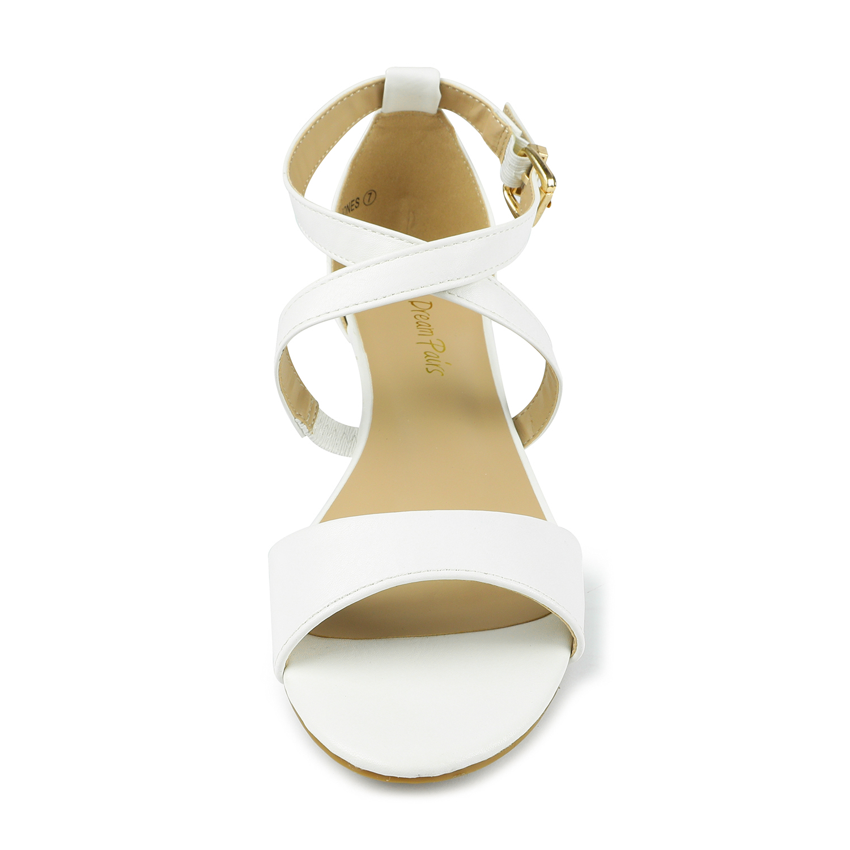 DREAM PAIRS Womens Ankle Strap Ladies Low Wedge Heel Summer Party Work Sandals