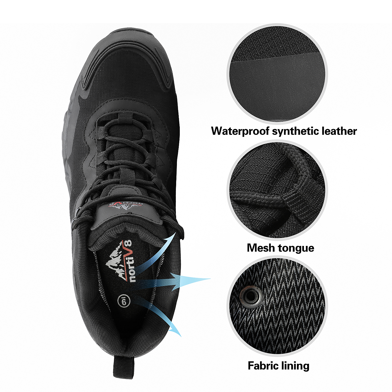 NORTIV-8-Men-039-s-Ankle-Waterproof-Hiking-Boots-Lightweight-Backpacking-Work-Shoes thumbnail 24