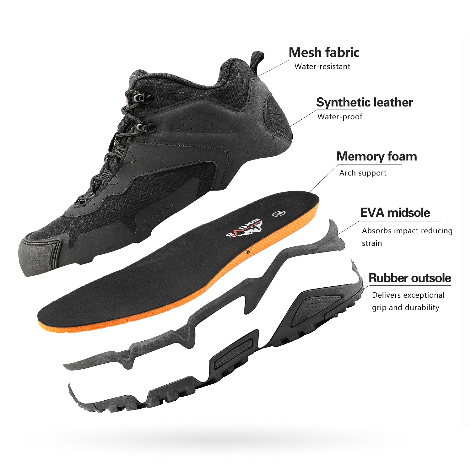 NORTIV-8-Men-039-s-Ankle-Waterproof-Hiking-Boots-Lightweight-Backpacking-Work-Shoes thumbnail 23