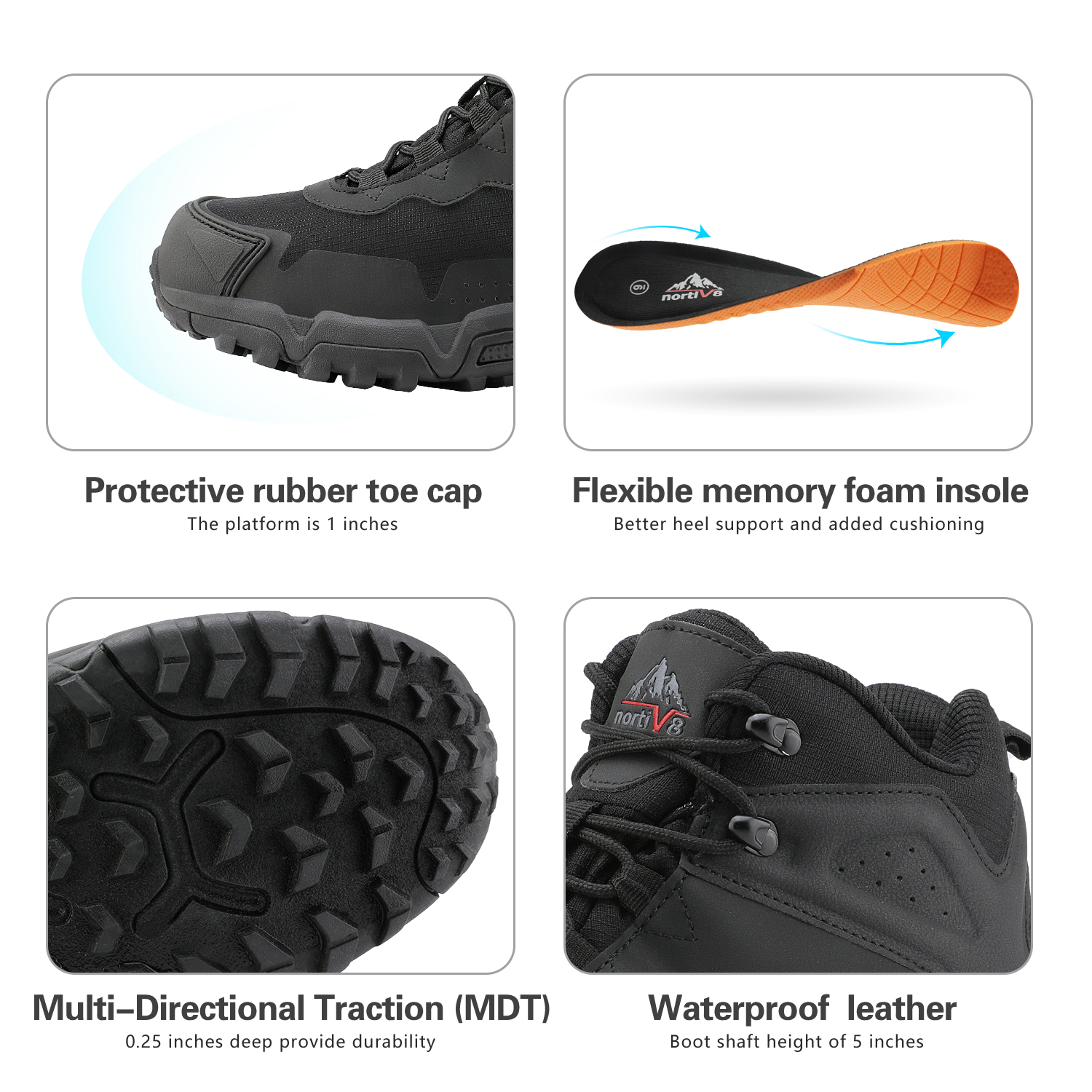 NORTIV-8-Men-039-s-Ankle-Waterproof-Hiking-Boots-Lightweight-Backpacking-Work-Shoes thumbnail 22
