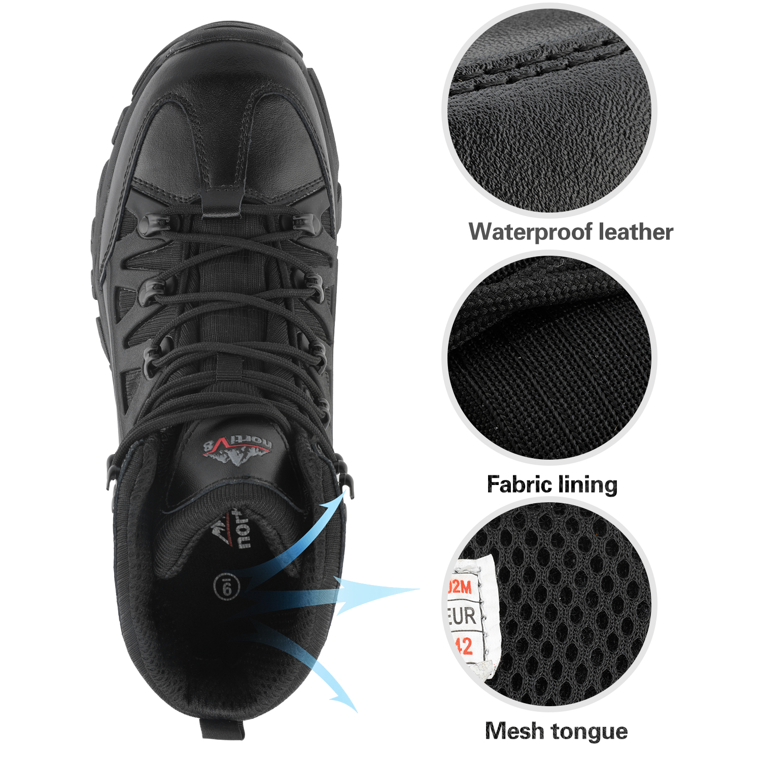 NORTIV-8-Men-039-s-Ankle-Waterproof-Hiking-Boots-Lightweight-Backpacking-Work-Shoes thumbnail 29
