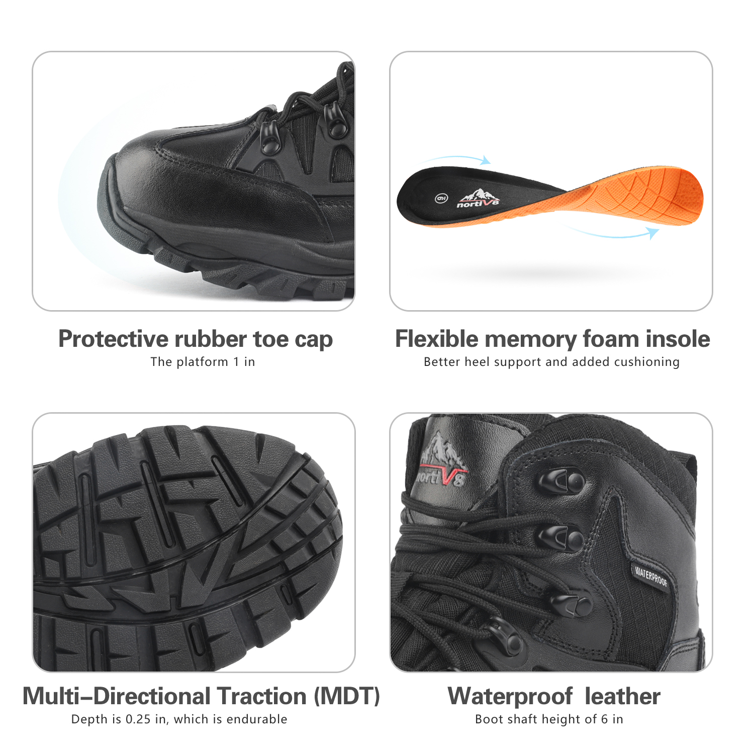 NORTIV-8-Men-039-s-Ankle-Waterproof-Hiking-Boots-Lightweight-Backpacking-Work-Shoes thumbnail 30