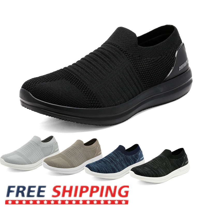 men s lightweight mesh walking shoes slip
