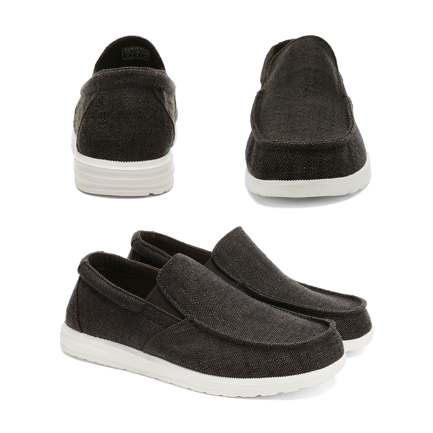 Bruno-Marc-Men-039-s-Lightweight-Canvas-Slip-On-Loafer-Shoes-Moccasins-Walking-Shoes thumbnail 36