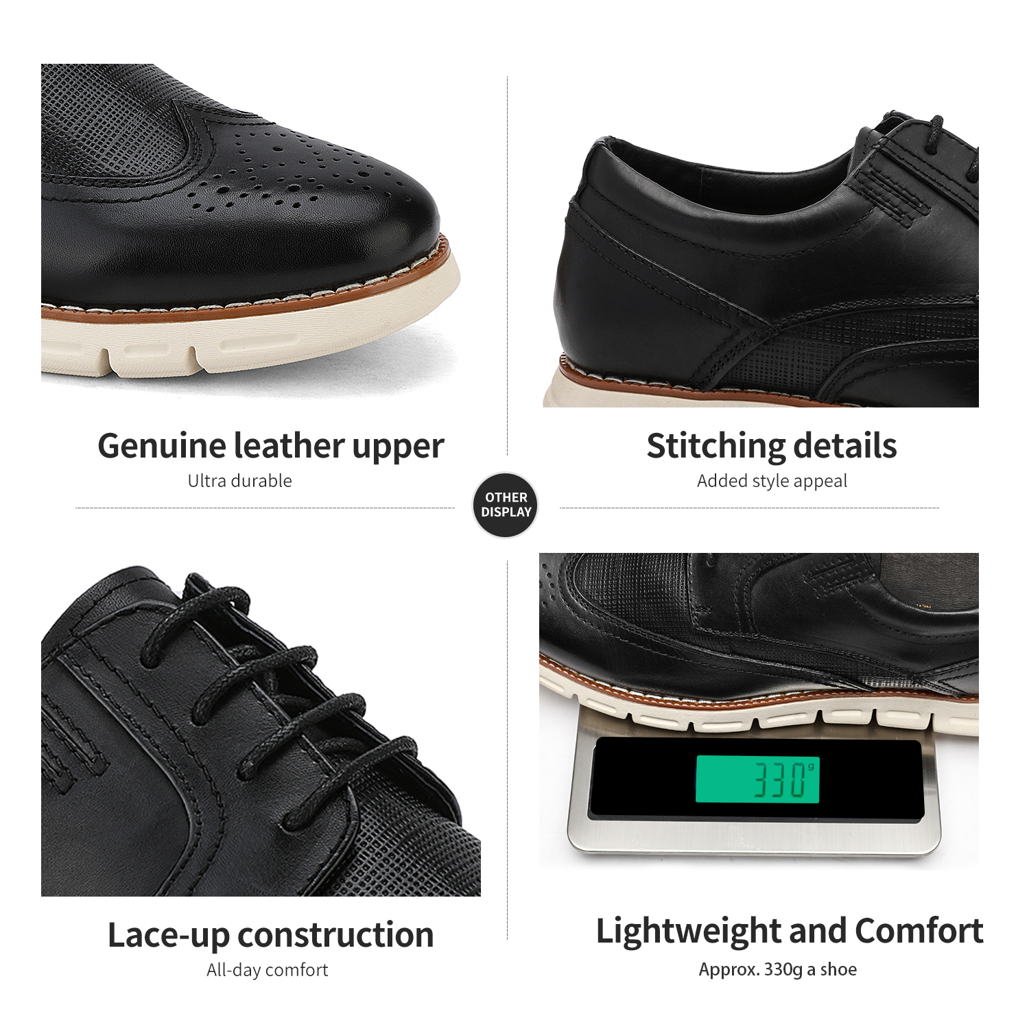 Men-s-Genuine-Leather-Casual-Formal-Sneakers-Lace-up-Business-Oxford-Dress-Shoes thumbnail 11