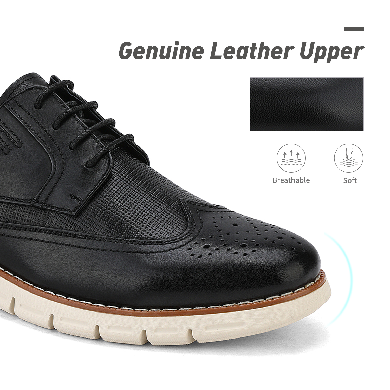 Men-s-Genuine-Leather-Casual-Formal-Sneakers-Lace-up-Business-Oxford-Dress-Shoes thumbnail 8